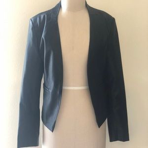 Blank NYC Collarless Faux Leather Jacket